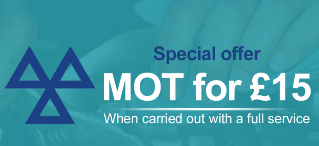 MOT for £15 When carried out with a Full Service