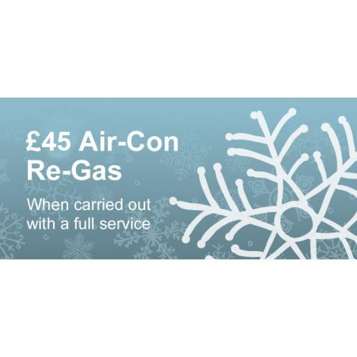 Chill out with a £45 Air-Con Re-Gas at Ree-Car Garage